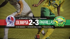 Olimpia 2-3 Parillas One | Jornada 13