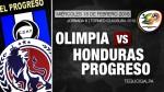Olimpia vs Honduras Progreso